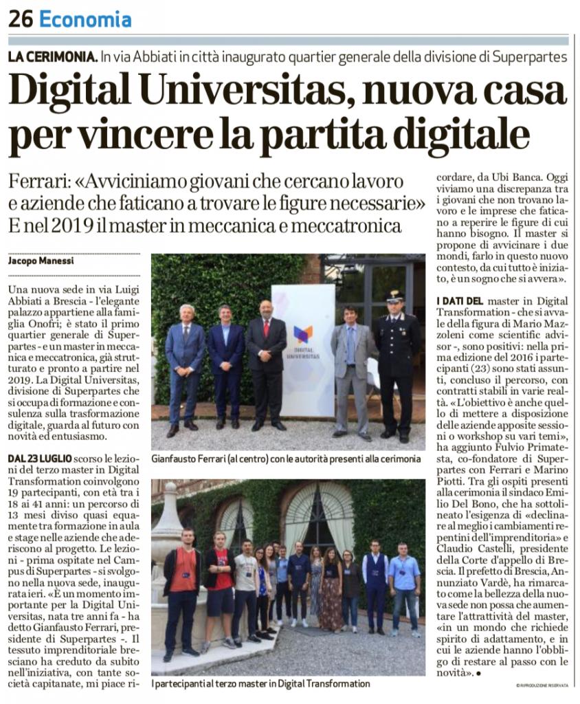 Inaugurazione nuova sede Digital Universitas
